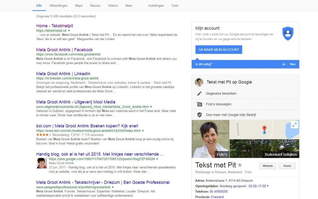 Kent Google jouw bedrijf wel goed genoeg?
